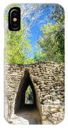 Narrow Passage In Becan, Mexico IPhone Case