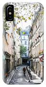 Narrow Streets Of The Latin Quarter In Paris, France IPhone Case