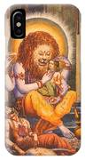 Narsimhavatar Water-color Painting,hindu Mythology,beautiful Artwork. IPhone Case