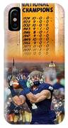 National Championships Nd IPhone Case
