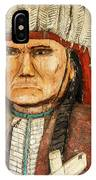Native American Chief With Pipe IPhone Case
