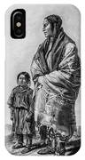 Native American Squaw And Child IPhone Case