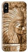 Native American Statue Copper  IPhone Case