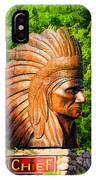 Native American Statue IPhone Case