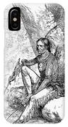 Native American With Pipe IPhone Case