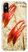 Native Virginia Columbine IPhone Case