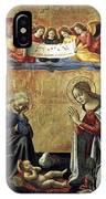 Nativity By Domenico Ghirlandaio IPhone Case