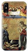 Nativity By Domenico Ghirlandaio IPhone Case