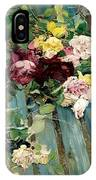 Natura Morta Con Rose Giovanni Boldini IPhone Case