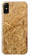 Natural Abstracts - Elaborate Shapes And Patterns In The Golden Grass IPhone Case