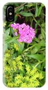 Natural Background With Vegetation And Purple Flowers. IPhone Case