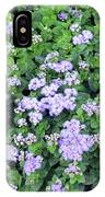 Natural Bush With Purple Small Flowers. IPhone Case