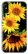 Natures Sunflower Bouquet IPhone Case