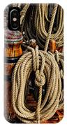 Nautical Knots 17 Oil IPhone Case
