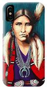 Navajo Woman In Red IPhone Case