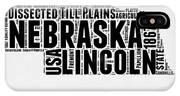 Nebraska Word Cloud 2 IPhone Case
