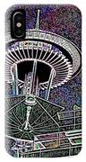 Needle Over Fisher Plaza IPhone Case