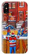Neighborhood  Hockey Rink IPhone Case
