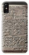 Neo-babylonian Clay Tablet IPhone Case
