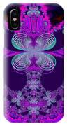 Neon Butterflies And Rainbow Fractal 137 IPhone Case