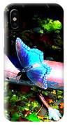 Neon Butterfly IPhone Case