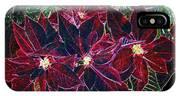 Neon Poinsettias IPhone Case