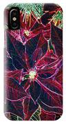 Neon Poinsettias IPhone Case