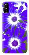 Neon Purple Cineraria IPhone Case