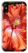 Neon-red Hibiscus 6-17 IPhone Case