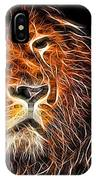 Neon Strong Proud Lion On Black IPhone Case
