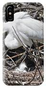 Nesting Great Egret With Chick IPhone Case