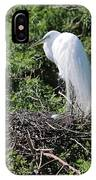 Nesting Great Egret With Egg IPhone Case