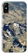 Nevada Mountain Terrain Aerial Lakes IPhone Case