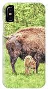 New Born Bison IPhone Case