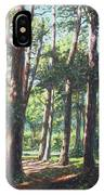 New Forest Trees With Shadows IPhone Case