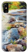 New Hampshire Creek In Fall IPhone Case