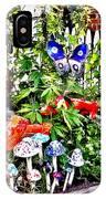New Hope Pa - Garden Of Ceramic Mushrooms IPhone Case
