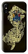 New Jersey Typographic Map 02 IPhone Case
