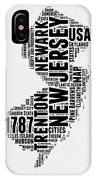 New Jersey Word Cloud 2 IPhone X Case