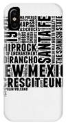 New Mexico Word Cloud Map 2 IPhone Case