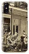 New Orleans Jazz 2 - Sepia IPhone Case