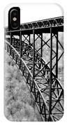 New River Gorge Bridge Bw IPhone Case