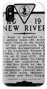 New River Historical Marker IPhone Case