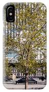 Trees On Fed Plaza IPhone Case by Mike Evangelist