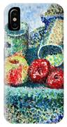 New Work Painted In Pointillism  IPhone Case