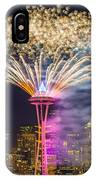 New Year Fireworks - Seattle IPhone Case
