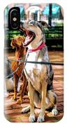 New York City Dog Walking IPhone Case