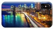 New York City Lights Blue IPhone Case