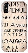 New York City Street Sign IPhone Case