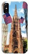 New York City Trinity Church IPhone Case